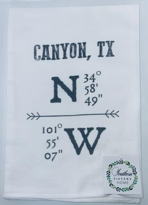 Canyon Longitude-LatitudeTowel