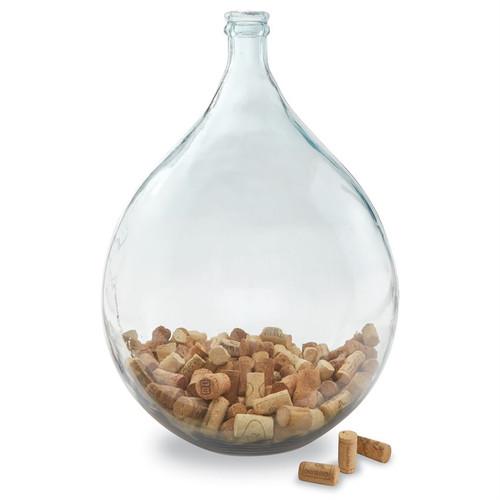 Large Carafe Shape Glass Vase