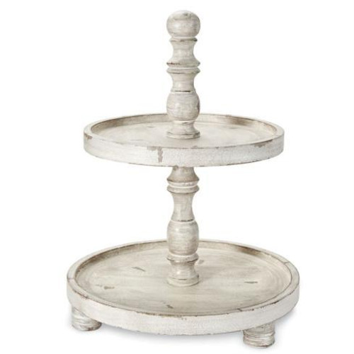 White Distressed Tiered Server