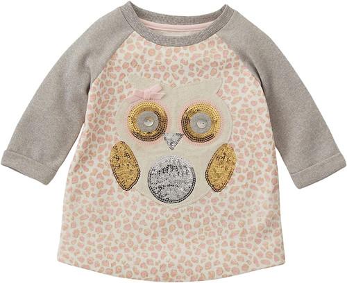 Sequin Owl Sweatshirt 12-18m