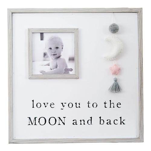Pom Moon Pink Star Frame