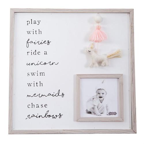 Pom Tassel Unicorn Frame
