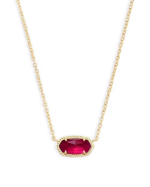 Elisa Necklace Berry Birthstone in Gold