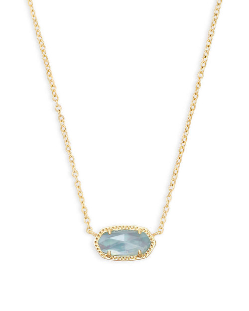 Elise Necklace Light Blue Illision in Gold