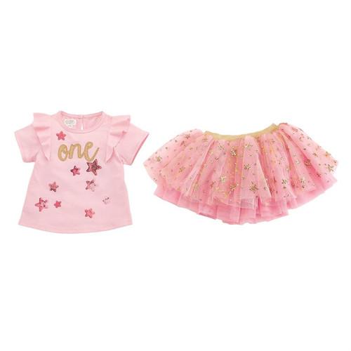One Birthday Skirt Set 12-18m