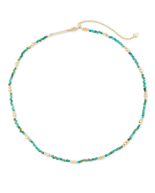 Scarlet Choker Gold Turquoise Necklace