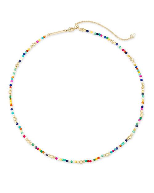 Scarlet Choker Gold Multi Necklace