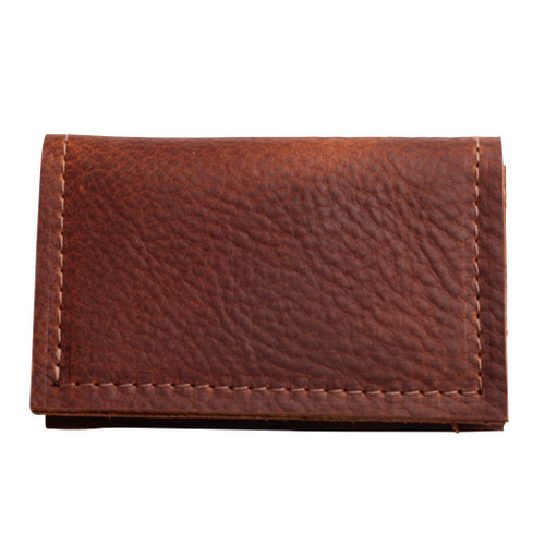 Cognac Slim Fold Card Case