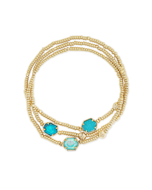 Tomon Bracelet Gold Blue Mix