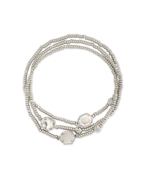 Tomon Bracelet Silver White Mix