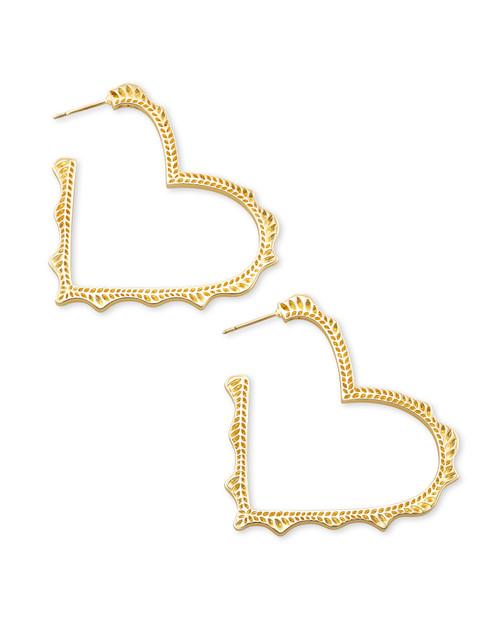 Sophee Heart Hoop Gold Earring