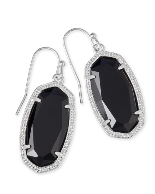 Dani Earring Silver and Black