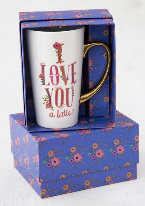 Love You A Latte Gold Handled Mug