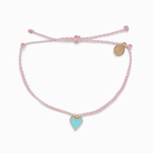 Petite Heart Gold Baby Pink Bracelet