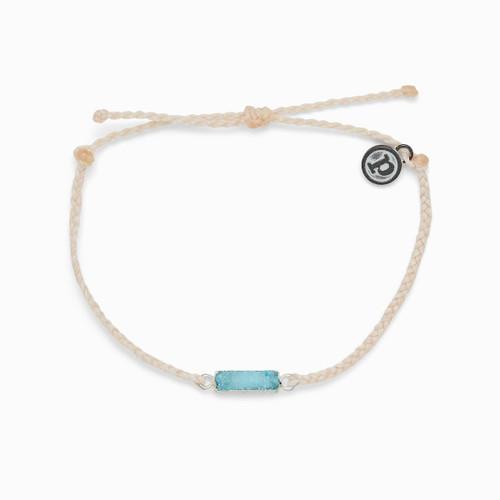 Drusy Silver Vanilla Bracelet