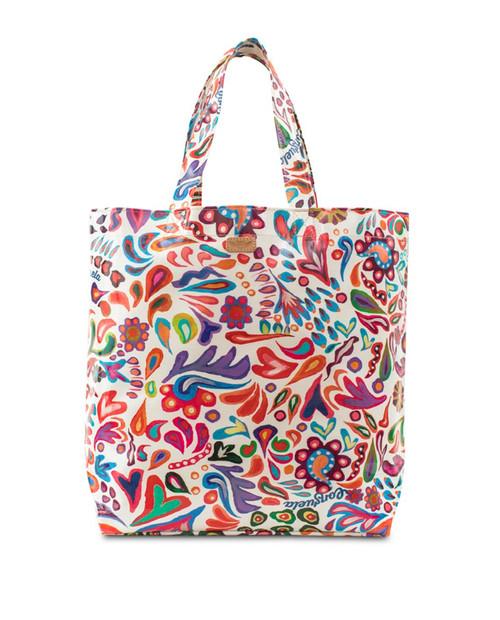 White Swirly Grab n Go Tote Bag