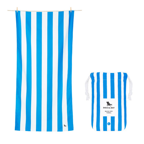Blue Stripe Extra Large Quick Dry Towel