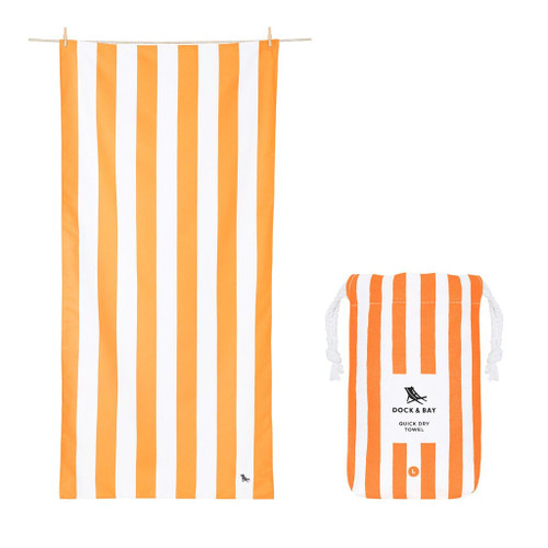 Orange Stripe Extra Large Quick Dry Towel