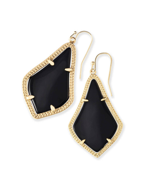Alex Earring Black and Gold