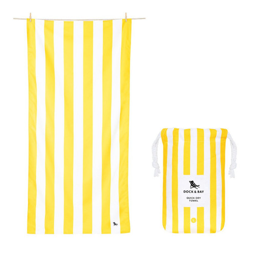 Yellow Stripe Extra Large Quick Dry Towel