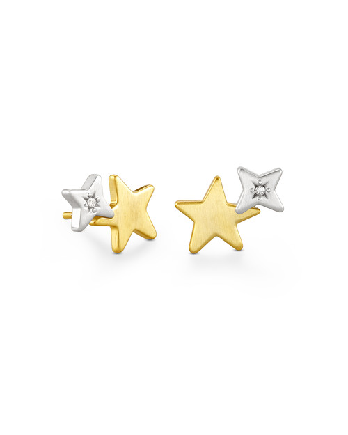 Jae Star Ear Climber Mixed Metal