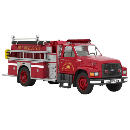 96 Ford F800 Fire Engine 18 Orn