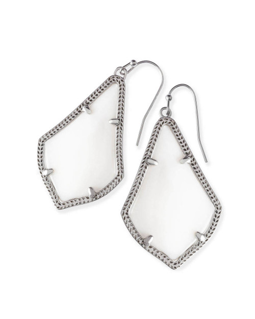 Alex Earring Silver and White