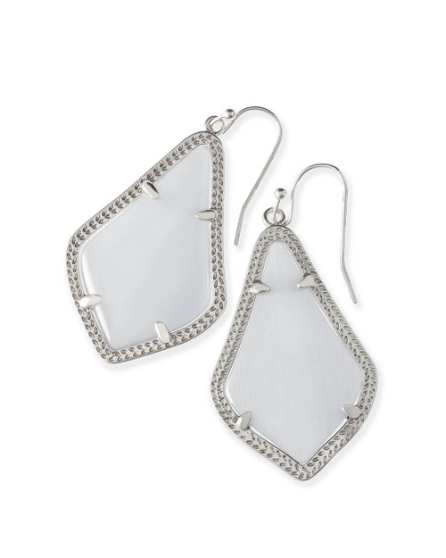 Alex Earring Silver and Slate Cat's Eye