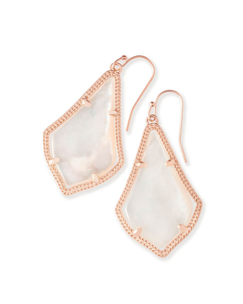 Alex Earring Rose Gold and Ivory Mother of Pearl