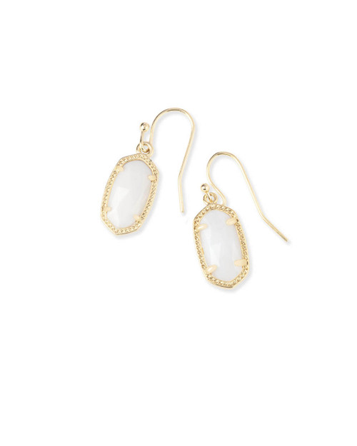 Lee Earring Gold and White Mother of Pearl