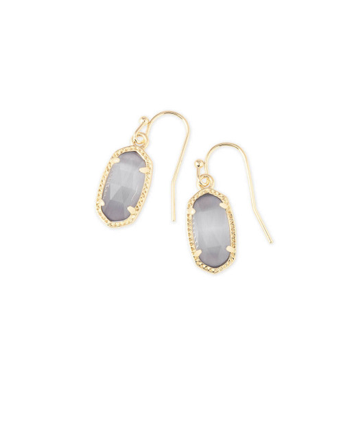 Lee Earring Gold and Slate Cat's Eye