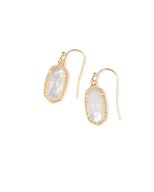 Lee Earring Gold and Ivory Mother of Pearl