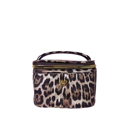 Bronze Leopard Getaway Jewelry Case