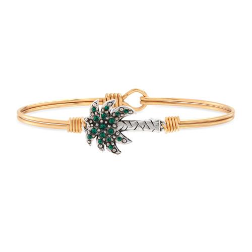 Palm Tree Brass Bangle