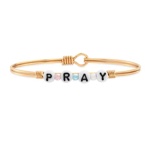 Pray Bead Brass Bangle