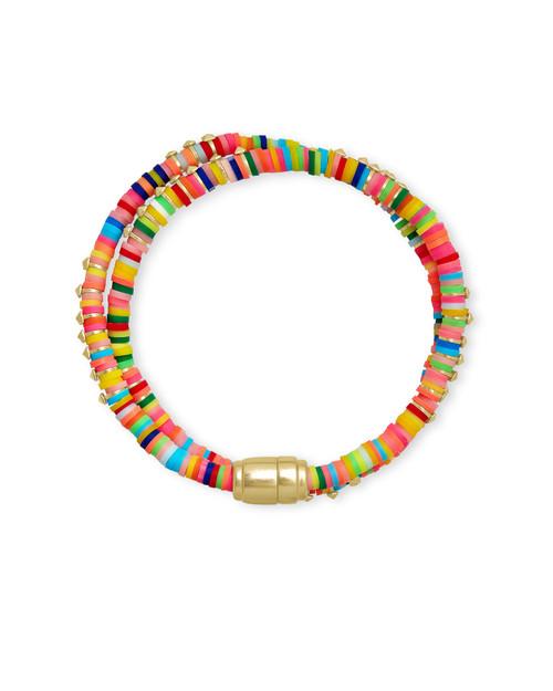 Reece Wrap Bracelet Gold Neon Mix