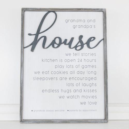 Grandparent's House Reversible Sign 32x24