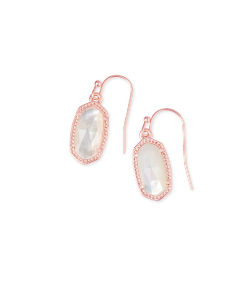 Lee Earring Rose Gold and Ivory Mother of Pearl