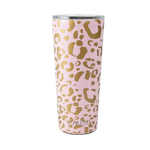 Large Blush Leopard Tumbler 24 oz.