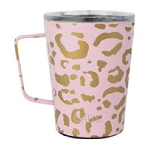 Blush Leopard Coffee Tumbler 12 oz.