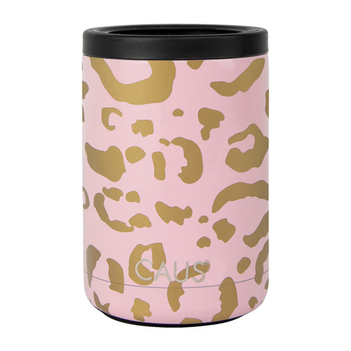 Blush Leopard Can Cooler