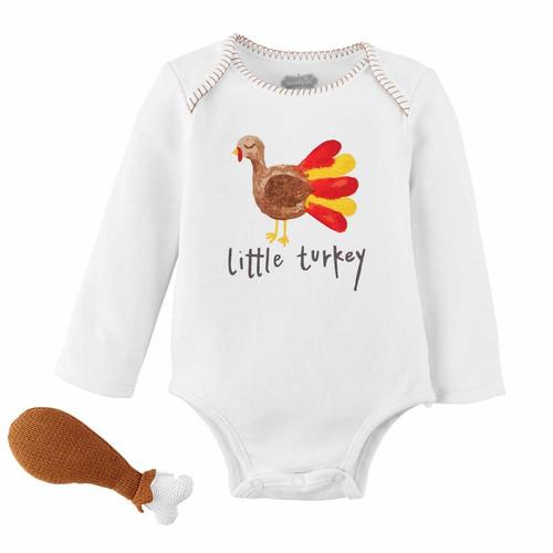 Turkey Knit Rattle Gift Set 0-6m