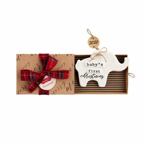 Baby 's 1st Christmas Elephant 2020 Ornament