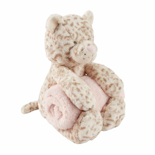 Leopard Plush With Blanket