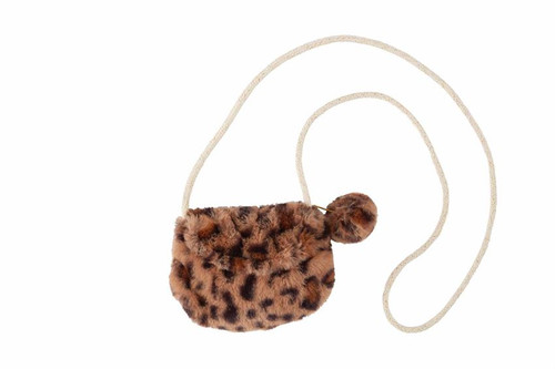 Brown Leopard Faux Fur Purse