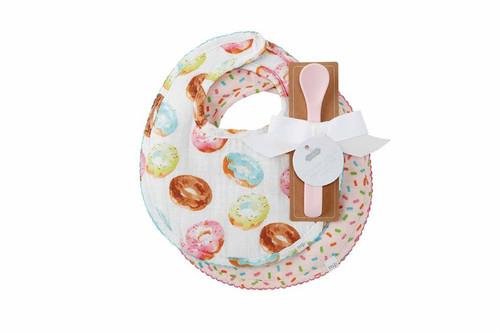 Donut Muslin Bibs And Spoon