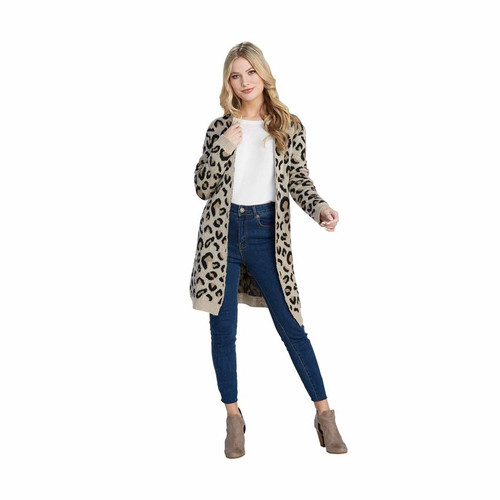 Medium/Large Leopard Fletcher Cardigan