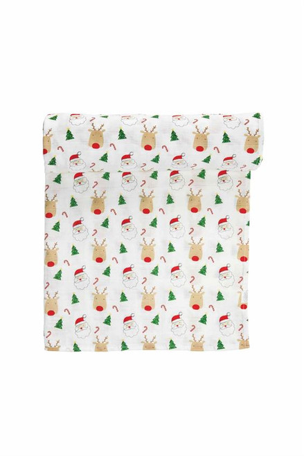 Christmas Muslin Swaddle
