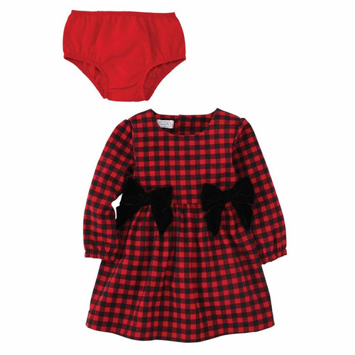 Buffalo Check Bow Dress 2T
