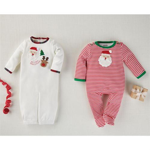 Red Stripe Crochet Santa Sleeper 0-3M